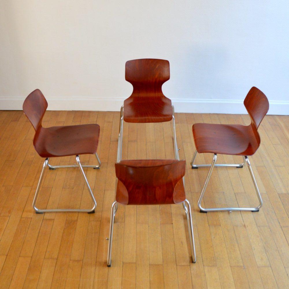 Suite de 4 chaises Flötotto pour Pagholz