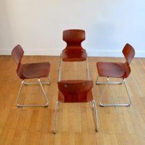 4 chaises pagholz Flötotto vintage 4