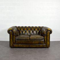 Canapé CHESTERFIELD Cuir vintage 1