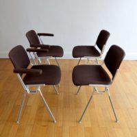 Chaises Piretti pour Castelli 1960 vintage 11