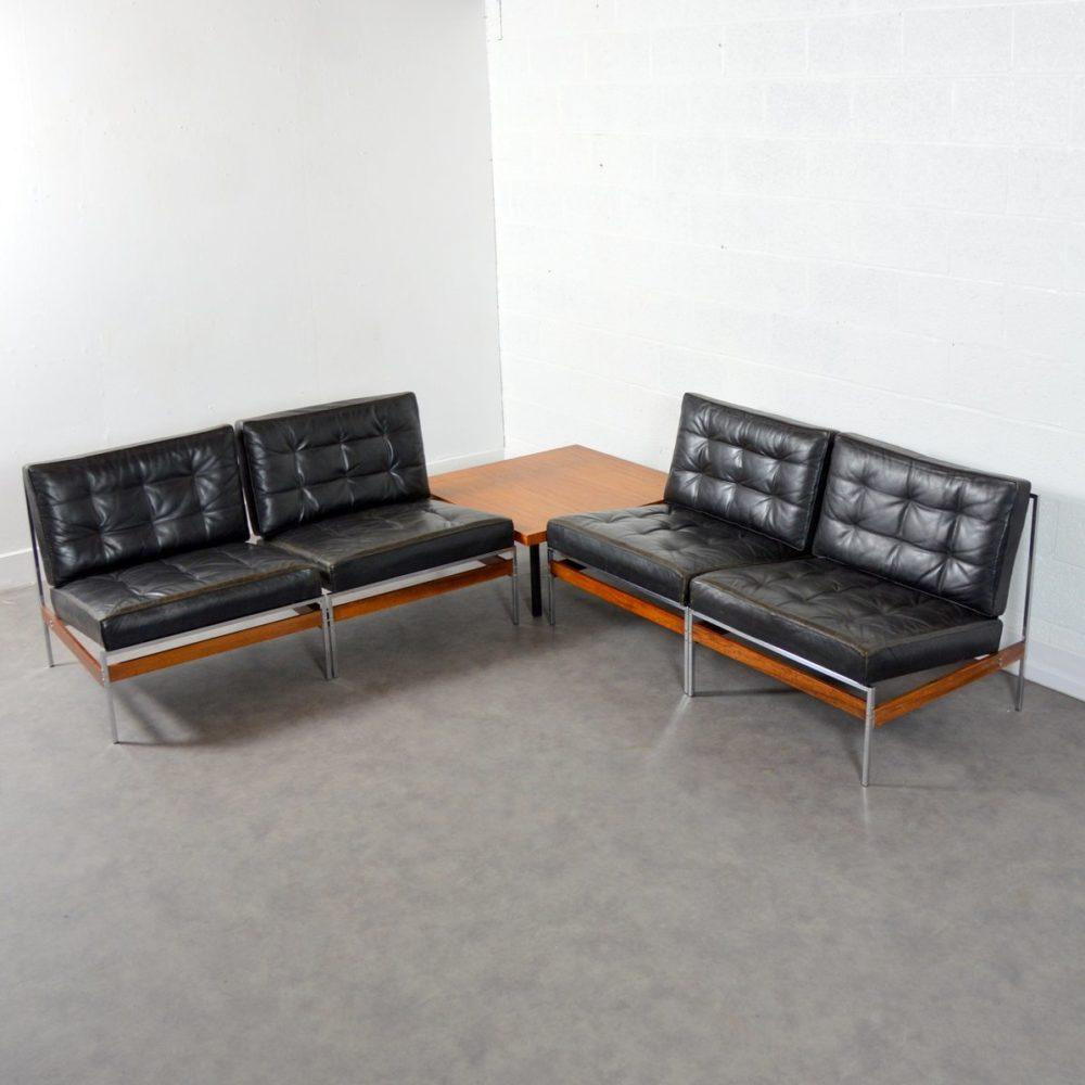 Suite de 4 Chauffeuses / Sofa Design 1950 vintage