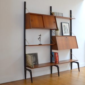 Wall units Louis Van Teeffelen 1950 vintage 9