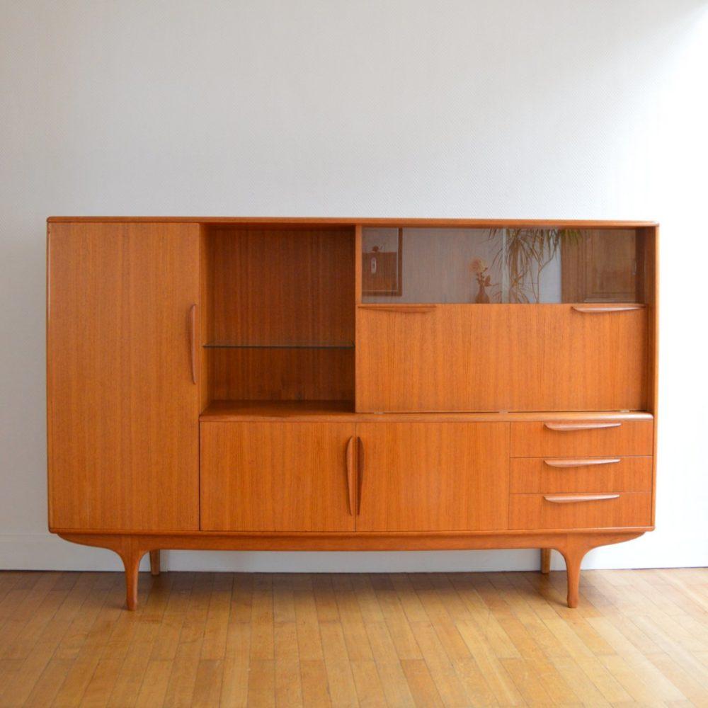 Buffet / Meuble bar Tricoire & Vecchione en teck pour meuble TV 1960s