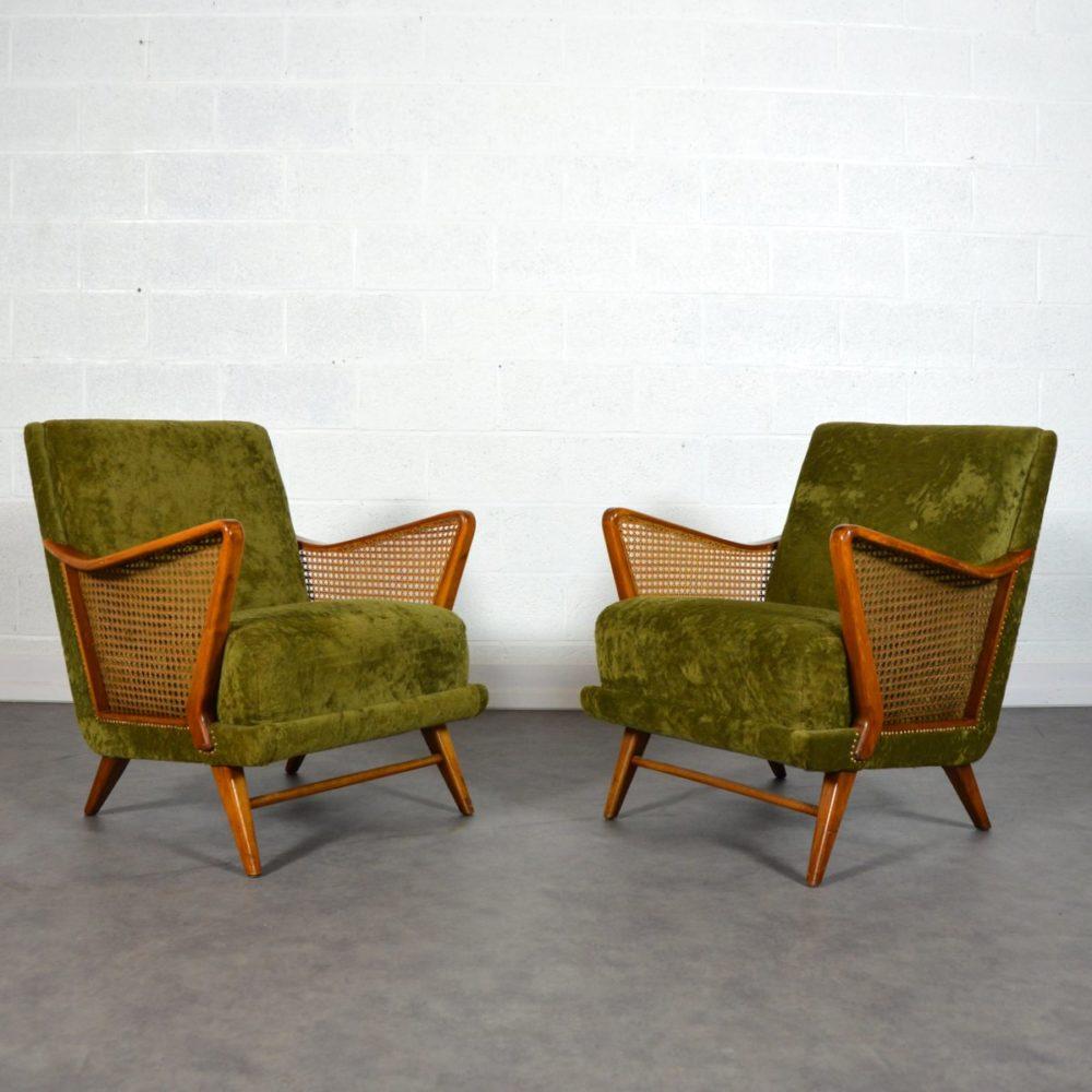 Paire de fauteuils cocktail vintage 1950s