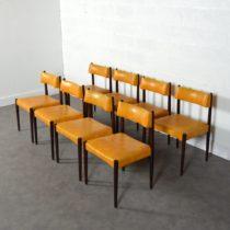 8 chaises scandinave 1960 vintage 10
