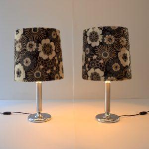 Paire de lampe de table vintage fleuris 18