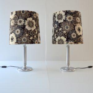 Paire de lampe de table vintage fleuris 9
