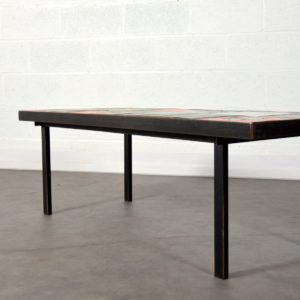Table basse céramique design 1960 vintage 13