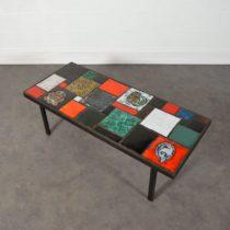Table basse céramique design 1960 vintage 2