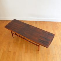 Table basse scandinave palissandre 1960 vintage 48