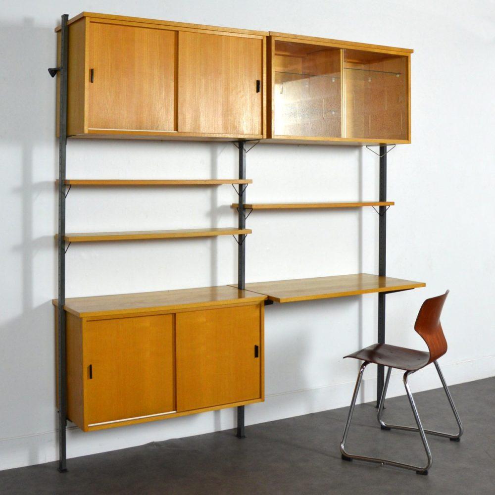 Bibliothèque /Bureau  modulable Suédois par Olof Pira 1960s