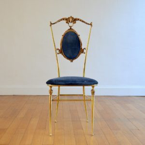 1 chaise Italienne années 50 : 60 laiton Hollywood regency 15