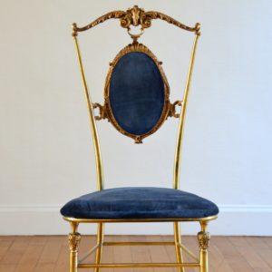 1 chaise Italienne années 50 : 60 laiton Hollywood regency 16