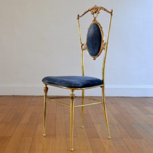 1 chaise Italienne années 50 : 60 laiton Hollywood regency 25
