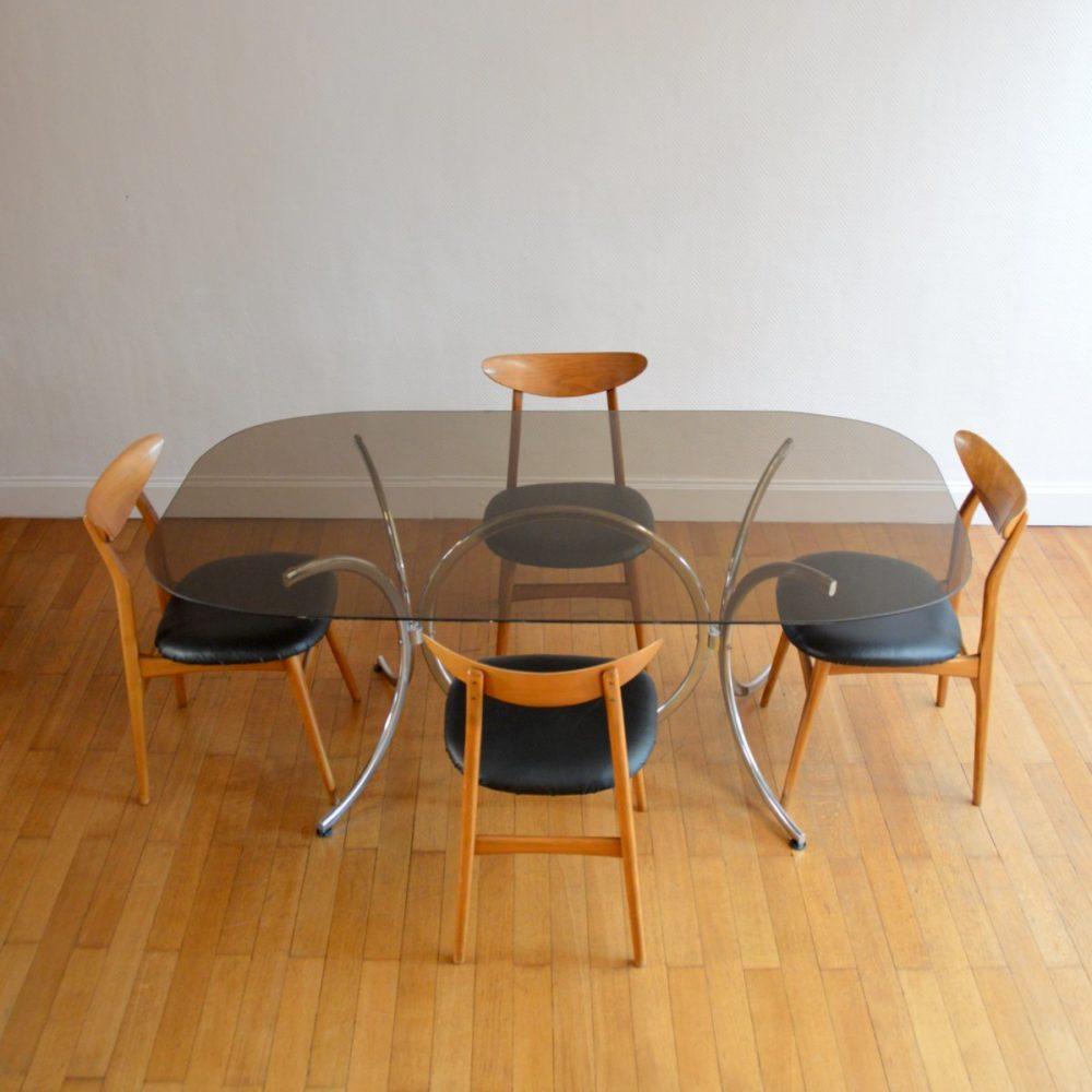 Table à manger par Gastone Rinaldi pour Rima 1970s