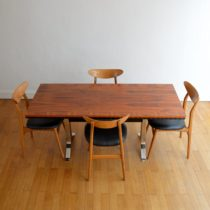 Table transformable scandinave palissandre vintage 1