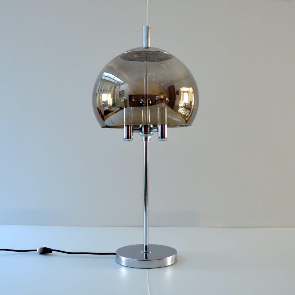 Grande lampe de table Doria Leuchten 1960s