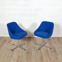 Paire de chaises coquille vintage 3