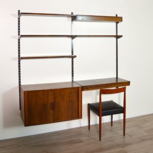 étagère – bibliothèque – bureau Kai Kristiansen scandinave palissandre 1960 vintage 33