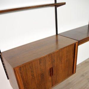 étagère – bibliothèque – bureau Kai Kristiansen scandinave palissandre 1960 vintage 44