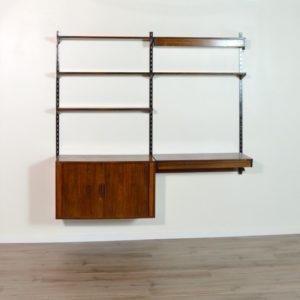 étagère – bibliothèque – bureau Kai Kristiansen scandinave palissandre 1960 vintage 7