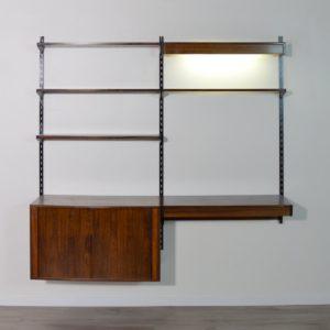 étagère – bibliothèque – bureau Kai Kristiansen scandinave palissandre 1960 vintage 70