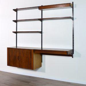 étagère – bibliothèque – bureau Kai Kristiansen scandinave palissandre 1960 vintage 76