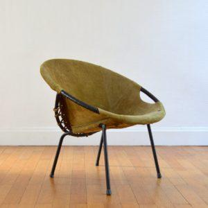 Fauteuil Circle par Lusch Erzeugnis 1960 vintage 3