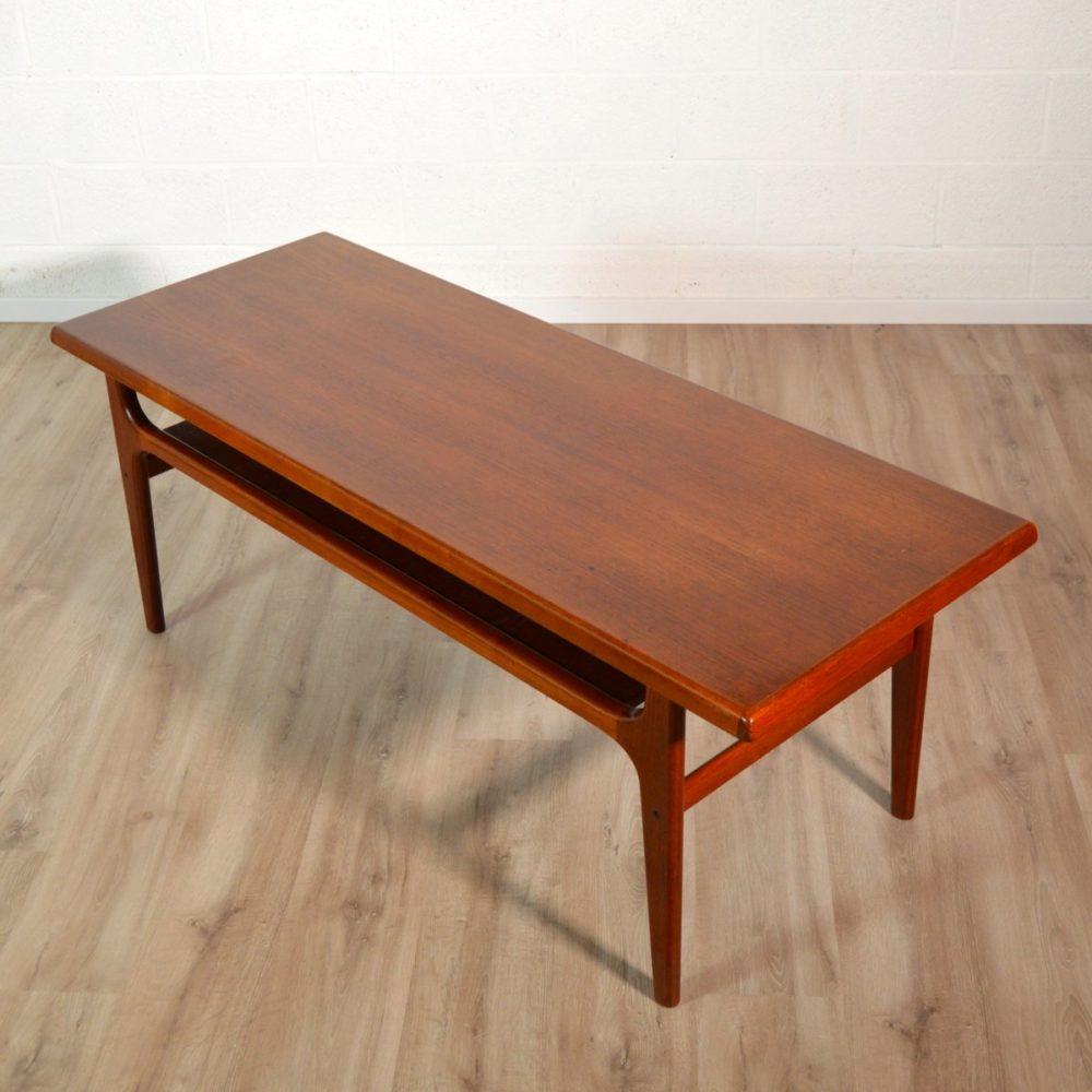 Table basse scandinave Teck par Bernhard Pedersen & Son, 1960s