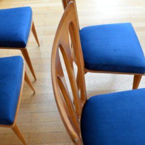 6 chaises Gaston Poisson Art Déco 1950 vintage 10