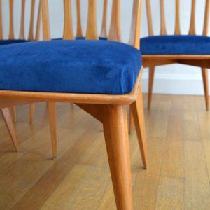 6 chaises Gaston Poisson Art Déco 1950 vintage 12