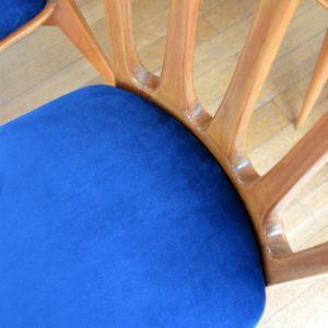 6 chaises Gaston Poisson Art Déco 1950 vintage 19