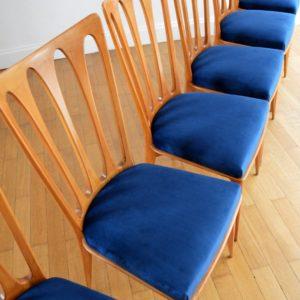 6 chaises Gaston Poisson Art Déco 1950 vintage 22