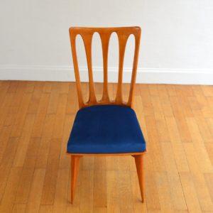 6 chaises Gaston Poisson Art Déco 1950 vintage 24