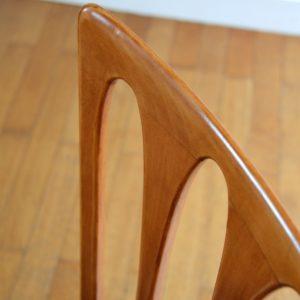 6 chaises Gaston Poisson Art Déco 1950 vintage 45