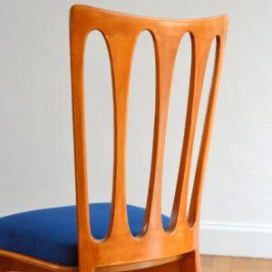 6 chaises Gaston Poisson Art Déco 1950 vintage 59