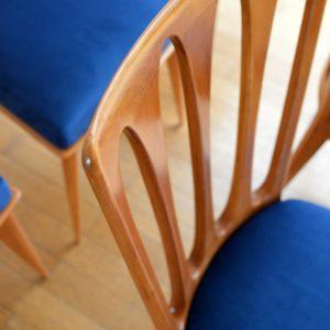 6 chaises Gaston Poisson Art Déco 1950 vintage 8