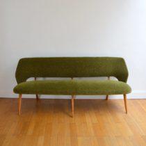 Banquette : Sofa : Canapé années 50 : 60 vintage 2