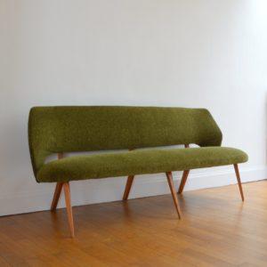 Banquette : Sofa : Canapé années 50 : 60 vintage 9