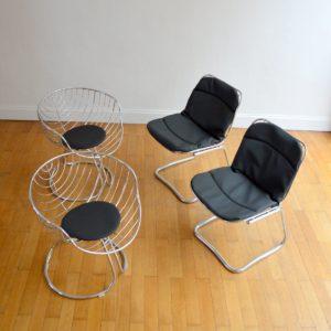 Chaises design Gastone Rinaldi 1970 vintage 10