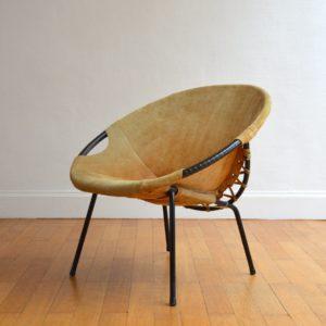 Fauteuil par Lusch Erzeugnis 1960 vintage 2
