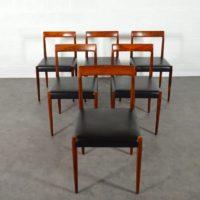 Suite de 6 chaises palissandre de Rio par Lübke 1960s