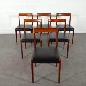 6 chaises palissandre de Rio par Lübke 1960 vintage 5