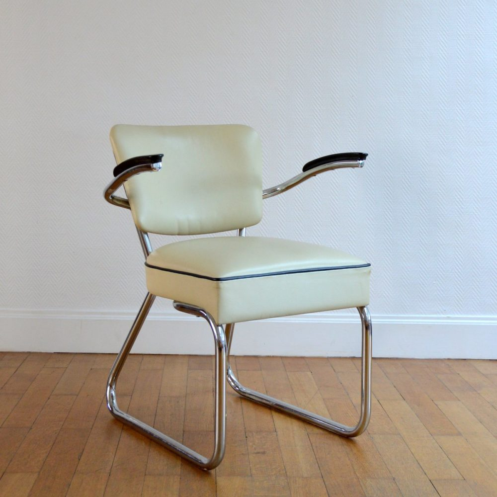 Fauteuil / Fauteuil de Bureau Gispen vintage 1950s