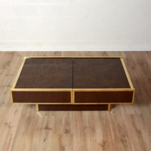 Table basse Willy Rizzo Design 1970 vintage 1