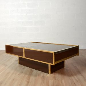 Table basse Willy Rizzo Design 1970 vintage 20