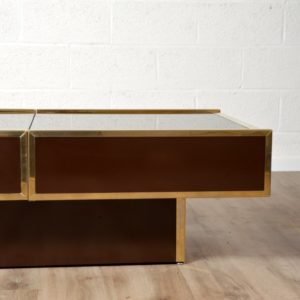 Table basse Willy Rizzo Design 1970 vintage 6