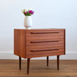 Commode scandinave teck 1960 vintage 31