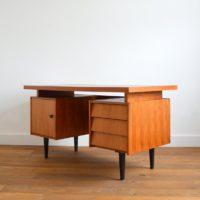 Grand bureau années 60 teck vintage
