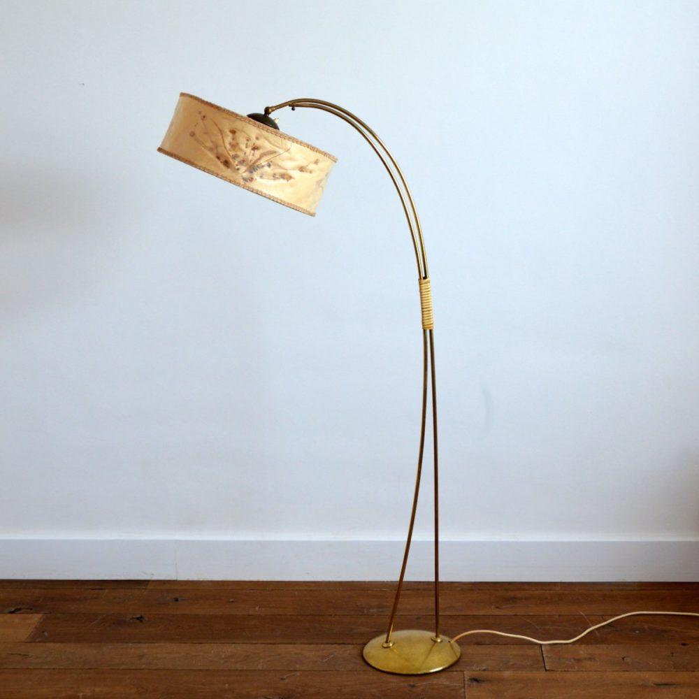 Lampadaire / Liseuse Design années 50 vintage